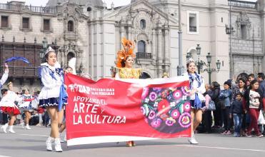 Elencos de Danza y Banda UAP Aperturan V Concurso Nacional de Pasacalle Folklórico